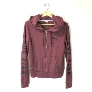 PINK Victoria's Secret Small Hooded Zip Sweatshirt